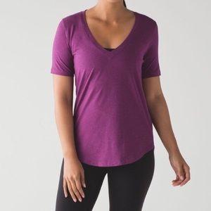Lululemon Love Tee III Chilled Grape V Neck Shirt